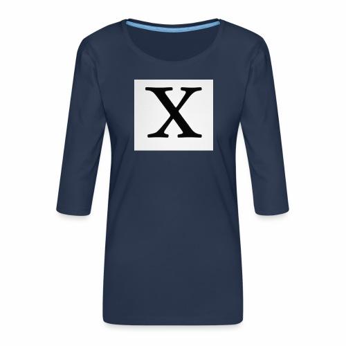 THE X - Women's Premium 3/4-Sleeve T-Shirt