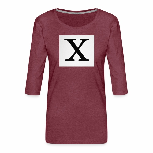 THE X - Women's Premium 3/4-Sleeve T-Shirt