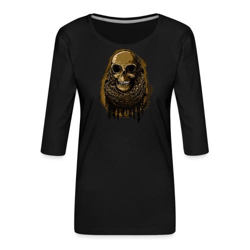Skull in Chains YeOllo - Women's Premium 3/4-Sleeve T-Shirt