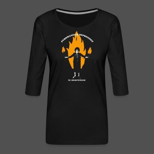 Pyromanisch Depressief (v) - Vrouwen premium shirt 3/4-mouw
