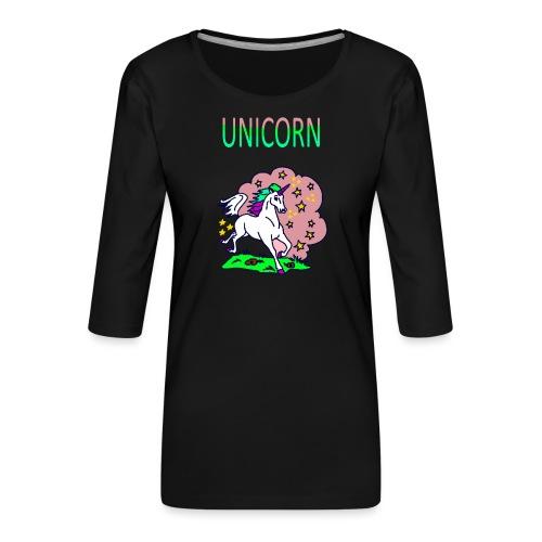 Einhorn unicorn - Frauen Premium 3/4-Arm Shirt