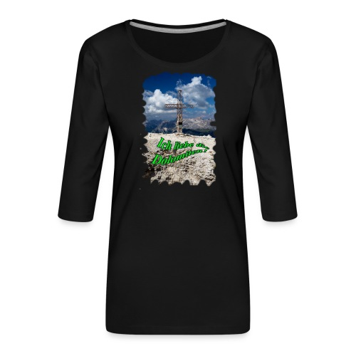 Sass Pordoi - Frauen Premium 3/4-Arm Shirt