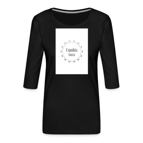 cumbia goza - Vrouwen premium shirt 3/4-mouw