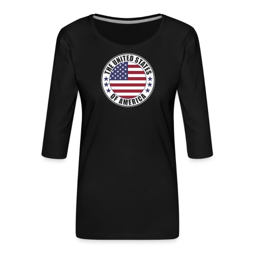 The United States of America - USA flag emblem - Women's Premium 3/4-Sleeve T-Shirt
