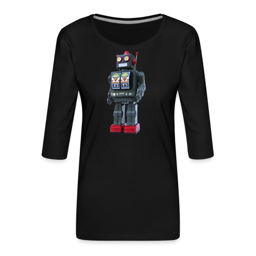 T-Shirt ROBOT - Maglietta da donna premium con manica a 3/4