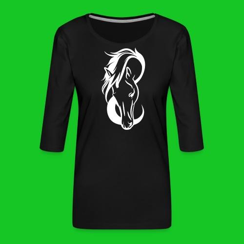 Paardenhoofd line - Vrouwen premium shirt 3/4-mouw