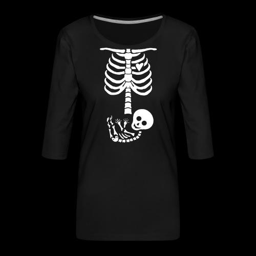 Baby Skelett US Version Maternity / Schwangerschaf - Frauen Premium 3/4-Arm Shirt