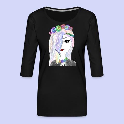 Rainbow flower girl - Female shirt - Dame Premium shirt med 3/4-ærmer