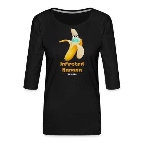 Die Zock Stube - Infected Banana - Frauen Premium 3/4-Arm Shirt