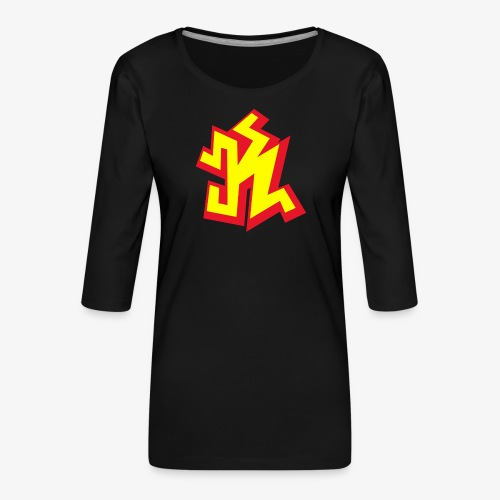 k png - T-shirt Premium manches 3/4 Femme
