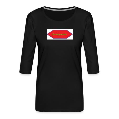 Kanalbild ohne hintergrund mit fühlung - Frauen Premium 3/4-Arm Shirt