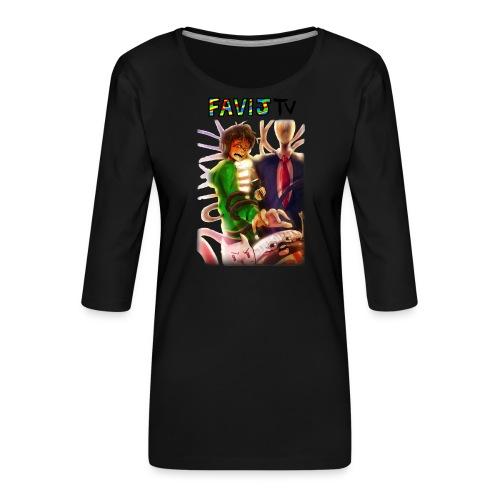 ShirtFinale png - Maglietta da donna premium con manica a 3/4