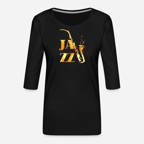 Jazz Tribal Saxophon - Frauen Premium 3/4-Arm Shirt