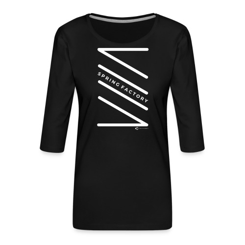 SPRING FACTORY WHITE - Women's Premium 3/4-Sleeve T-Shirt