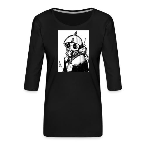 gas man - Camiseta premium de manga 3/4 para mujer