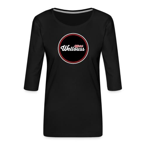 Wellouss Fan T-shirt | Rood - Vrouwen premium shirt 3/4-mouw