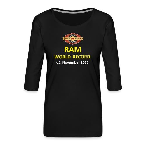 RWR gelb mit Datum (weiß) - Frauen Premium 3/4-Arm Shirt