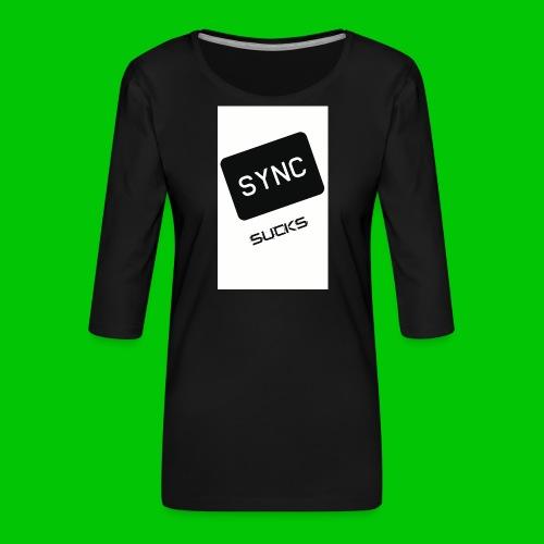 t-shirt-DIETRO_SYNK_SUCKS-jpg - Maglietta da donna premium con manica a 3/4