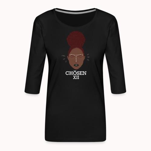 Edgy Ebony - Vrouwen premium shirt 3/4-mouw