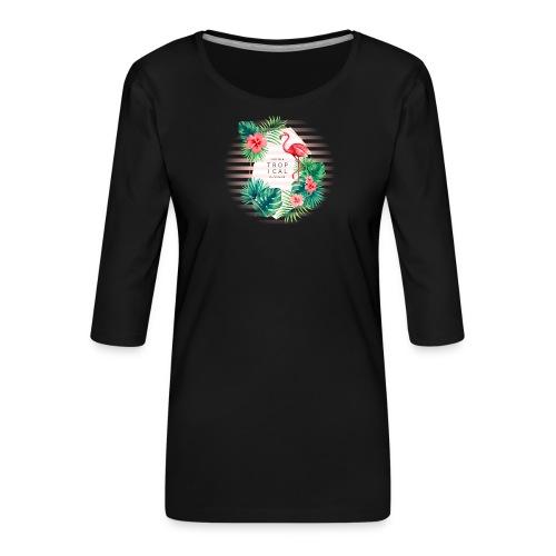 flamingo4 - Koszulka damska Premium z rękawem 3/4