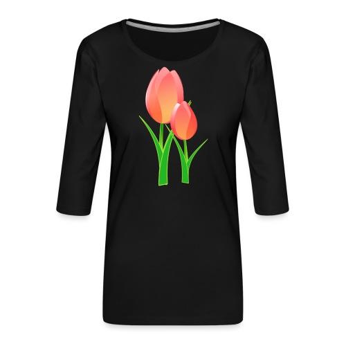 Belle fleur - T-shirt Premium manches 3/4 Femme