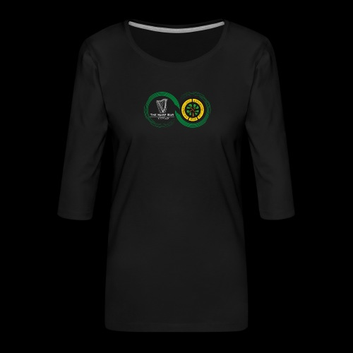 Harp and French CSC logo - T-shirt Premium manches 3/4 Femme