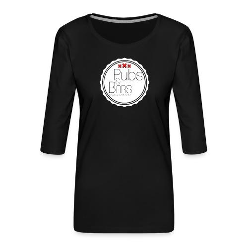 PubsnBars - Vrouwen premium shirt 3/4-mouw