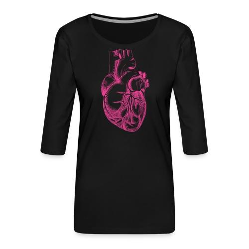 COEUR HUMAIN - T-shirt Premium manches 3/4 Femme