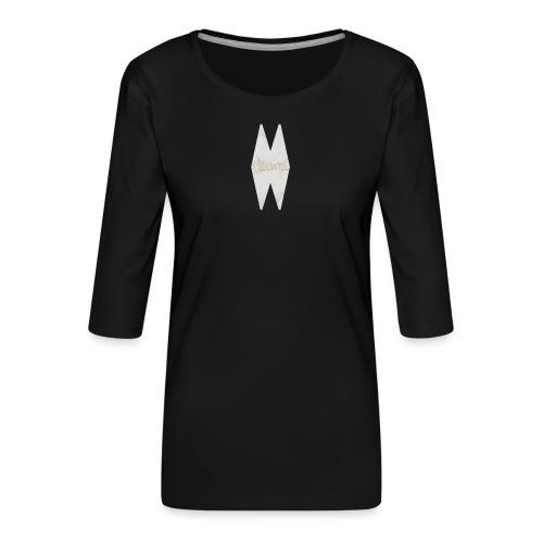 MELWILL white - Women's Premium 3/4-Sleeve T-Shirt