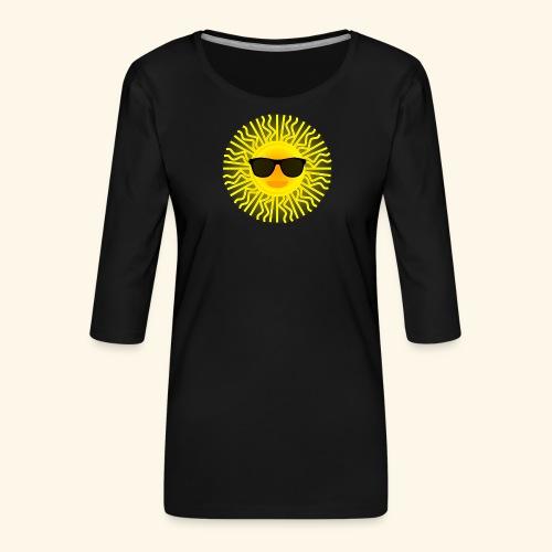 Sol de Canarias - Camiseta premium de manga 3/4 para mujer