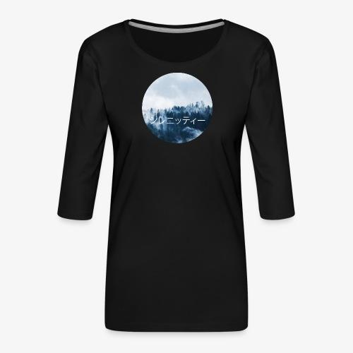 Serenity - Premium-T-shirt med 3/4-ärm dam