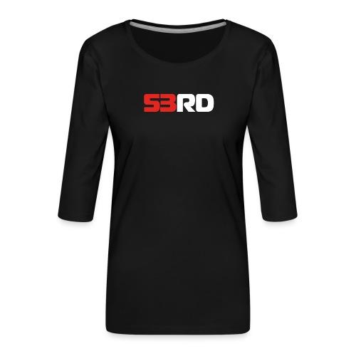 53RD Logo lang (weiss-rot) - Frauen Premium 3/4-Arm Shirt