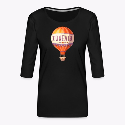 Vintage Balloon - Women's Premium 3/4-Sleeve T-Shirt