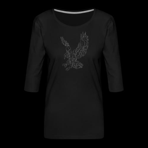 Circuit eagle White - Dame Premium shirt med 3/4-ærmer