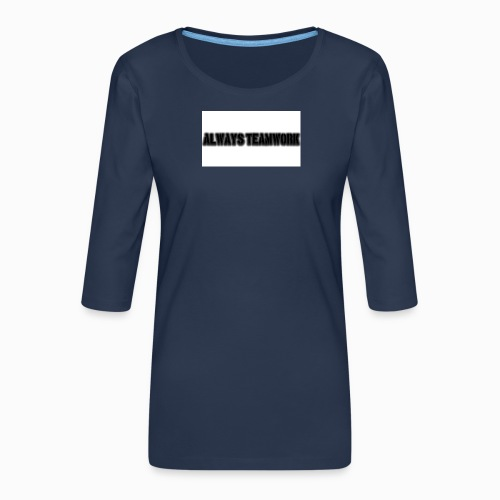 at team - Vrouwen premium shirt 3/4-mouw