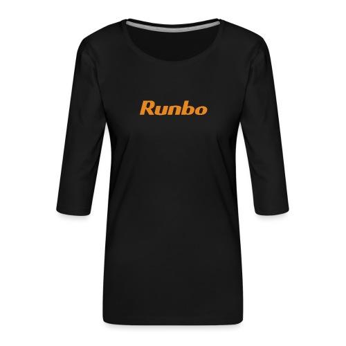 Runbo brand design - Women's Premium 3/4-Sleeve T-Shirt