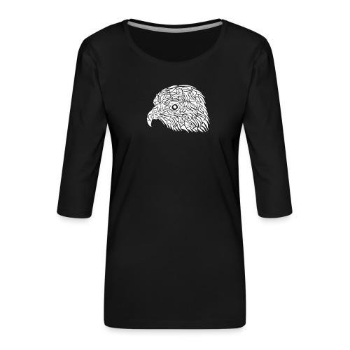aigle royal blanc - T-shirt Premium manches 3/4 Femme