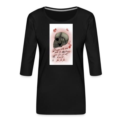 Sketch182181946-png - Camiseta premium de manga 3/4 para mujer