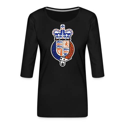 British Seal Pixellamb - Frauen Premium 3/4-Arm Shirt