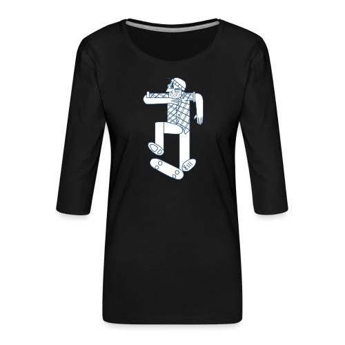 skater - T-shirt Premium manches 3/4 Femme