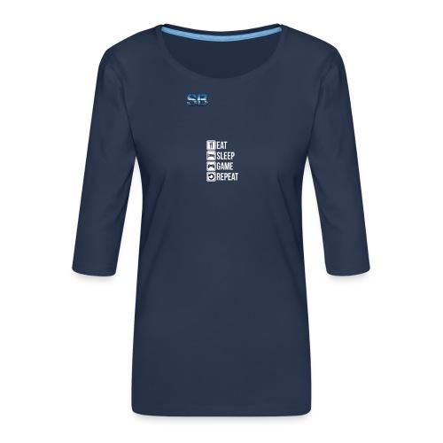 Eat Sleep Game Repeat - Dame Premium shirt med 3/4-ærmer