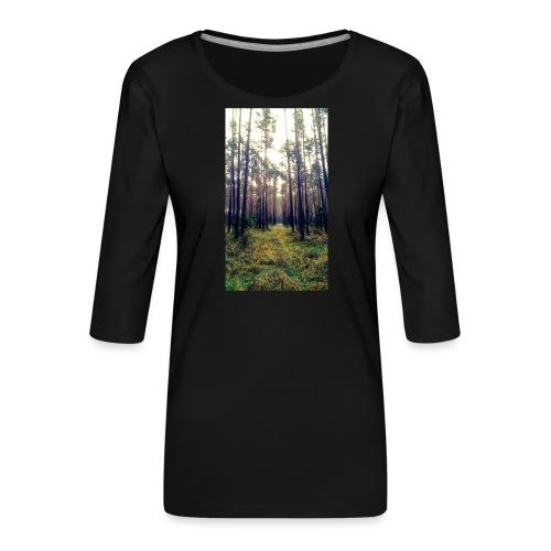 Las we mgle - Koszulka damska Premium z rękawem 3/4
