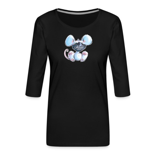 Maskenmaus - Frauen Premium 3/4-Arm Shirt