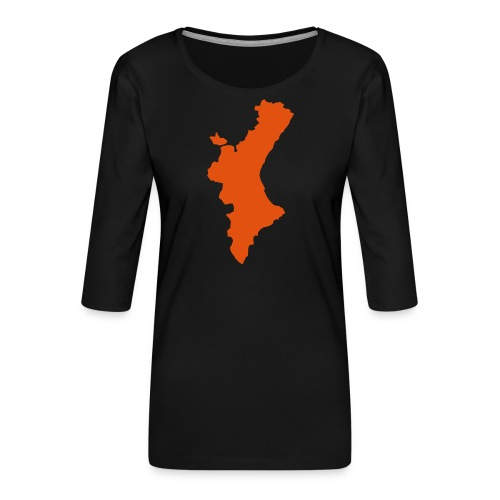 València - Camiseta premium de manga 3/4 para mujer