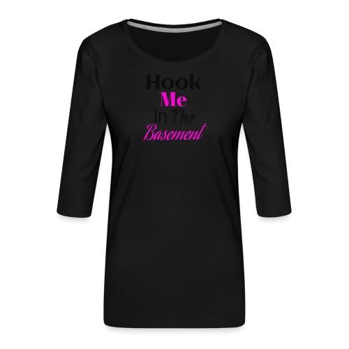 Hook N Chill - Dame Premium shirt med 3/4-ærmer