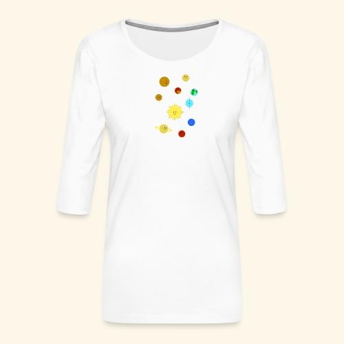 Solsystemet - Premium-T-shirt med 3/4-ärm dam