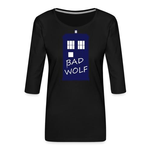 Bad Wolf Tardis - T-shirt Premium manches 3/4 Femme