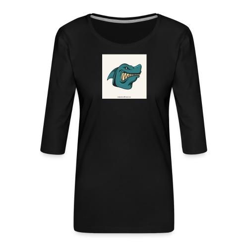 requin mascotte weelax - T-shirt Premium manches 3/4 Femme