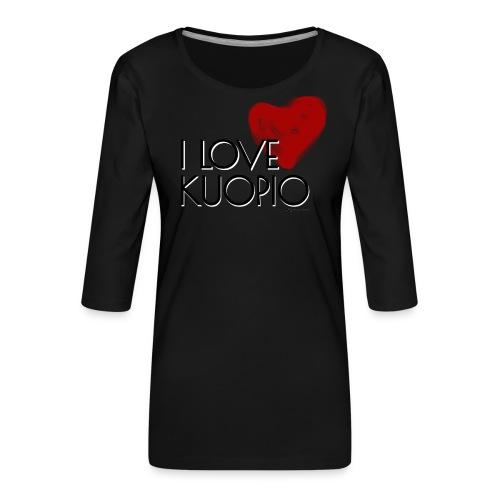 I LOVE KUOPIO 2020 - Naisten premium 3/4-hihainen paita