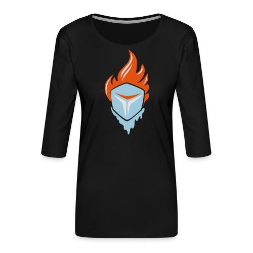 Fire and Ice 3C - Frauen Premium 3/4-Arm Shirt